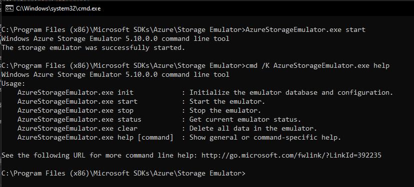 AzureStorageEmulatorConsole