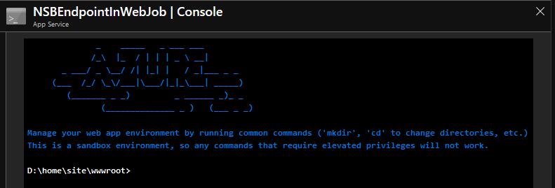 AzureAppServiceConsole