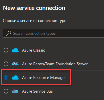 AzureResourceManagerConnectionType