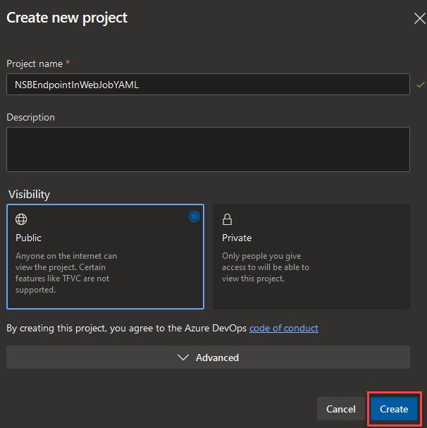 CreateNewProjectModal_YAML